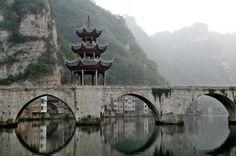 Zhusheng Bridge, Zhenyuan, Guizhou, China