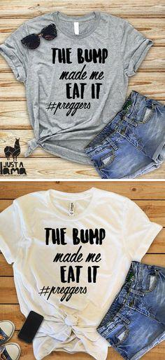 956fceab Baby Bump Funny Preggers Shirt, Baby Bump Tops, Preggers Top, Baby Bump T- shirts, New Mom .