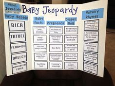 Charming Baby Shower Jeopardy Questions