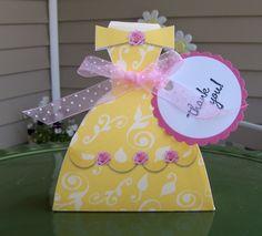 Belle Princess Dress Favor Box Set of Ten. $10.00, via Etsy.