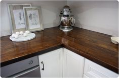 stained butcher block countertops