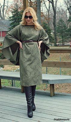 Платье - накидка на осень