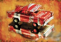 coca cola car Art Print