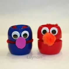 10 Pouch Caps Crafts- A Guest post by Lalymom on Frogs and Snails and Puppy Dog Tails Spring Crafts For Kids, Craft Projects For Kids, Crafts For Kids To Make, Craft Activities For Kids, Toddler Activities, Kids Crafts, School Projects, Easy Crafts, Learning English For Kids
