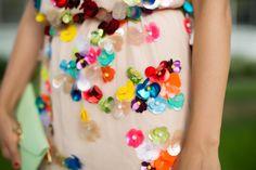 Floral Applique Party Dress