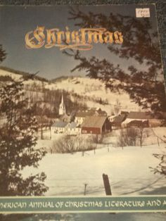 Christmas Book Antique Vintage Snow Village by LooseChipsWoodWork
