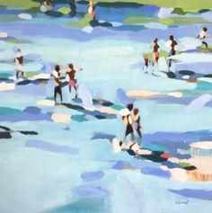 "SOLD Saatchi Art Artist Elizabeth Lennie; Painting, ""Beach Life 13: Clear Blue"" #art"