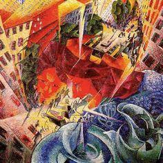 Simultaneous Visions [Umberto Boccioni, 1912]