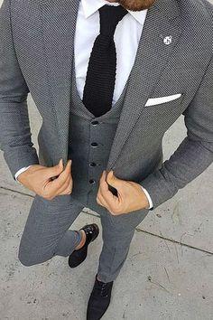 Blazer Outfits Men, Mens Fashion Blazer, Stylish Mens Outfits, Suit Fashion, Men Blazer, 50s Outfits, Trendy Suits For Men, Grey Suit Men, Mens Suits