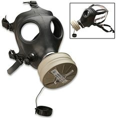 Gasmask - Israeli Made Gas Mask w/ Filter - Adult Size, definitely need a few of these