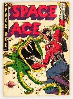 Golden Age (1938-1955):Science Fiction, Space Ace #5 (Magazine Enterprises, 1952) Condition: VG+.... Image #1