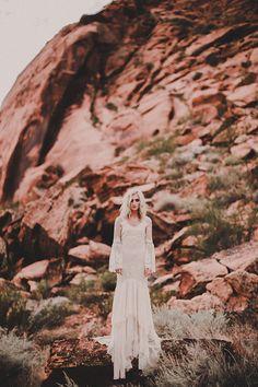 CHANTEL LAUREN DESIGNS // #wedding #dress #gown #bride #bridal #lace #sleeves #bohemian #boho #chantellauren #fashion #inspiration