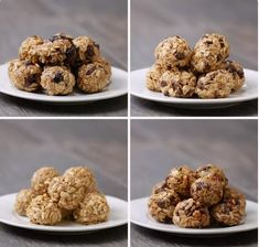 Recipes Snacks Baking No Bake Energy Bites Healthy Sweets, Healthy Baking, Healthy Snacks, Healthy Recipes, Baking Snacks, Diy Snacks, Healthy Bars, Protein Snacks, Snack Recipes
