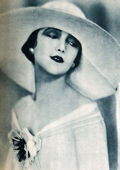 Edwin Bower Hesser - Jetta Goudal, actress, vintage, 1925.