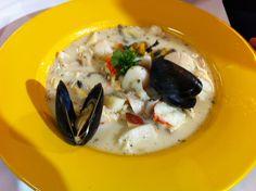 Diät-Meeresfrüchtesuppe