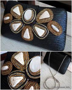 Clutch made with Filipiniana materials from SM Kultura Manila Filipiniana, Wallet, Manila, Chic, Bags, Inspiration, Weddings, Modern, Style
