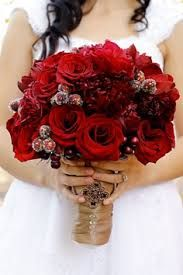 christmas wedding flower bouquets pine - Google Search