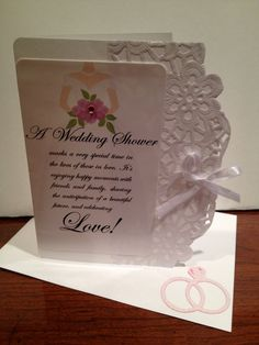 Lacy Bridal Shower Greeting Card. $4.00, via Etsy.  For a coupon check out: http://pinterest.com/pin/61643088622561925/