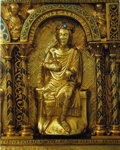 Frederick II, from the Shrine of Charlemagne.