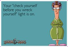 your check yourself light is on