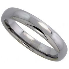 4mm Tungsten Wedding Band / Thumb Ring Dome for Him