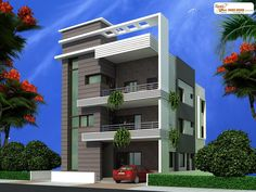 front elevation designs for duplex houses in india Independent House, Shipping Container Home Designs, Container House Design, House Map, Duplex House, Building Elevation, House Elevation, House Front Design, Modern House Design