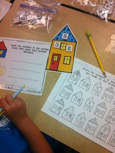 Learning about fact families. From Kim at http://firstgradefacts.blogspot.com
