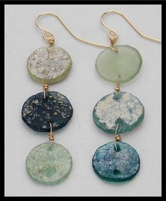 ANCIENT ROME  Ancient Roman Glass & 14KT by sandrawebsterjewelry