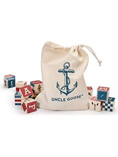 Uncle Goose Nautical Blocks with Canvas Bag - Made in USA ❤ Uncle Goose