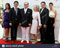 Hotel Bell Rock Opening at Europapark in Rust, Germany with Actor Roger Moore and wife Kristina Tholstrup (middle) with the Owner Family Mack on Thursday, 12.07.2012