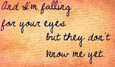 just made this. favorite lyric to my favorite song. kiss me by ed sheeran.