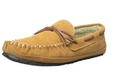 dba375710b6 Tamarac by Slippers Men s Cowsuede Moccasin Slippers Indoor Outdoor Tan Size  910  TamaracbySlippersInternational  MoccasinSlippers