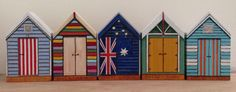 Next Stop: Beach!!  Handpainted Wooden Beachhuts as in Brighton by Marianna Ksydia Mentzelopoulou