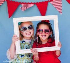 DIY photo booth! - such a fun idea...