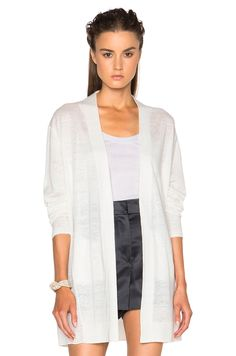 5218bd821784 Image 1 of Acne Studios Paulin Linen Cardigan in Off White Long Duster,  White Cardigan