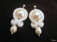 Ridgways / Collection with pearls - white...soutache