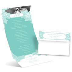 romantic details seal and send wedding invitation | photo wedding invites at Ann's Bridal Bargains  I for some reason am attracted to the fold ups. You can change the color