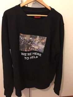 1ee67757ba86dd 424 On Fairfax. 424 On Fairfax 424 We re Here To Help Sweatshirt Size US L    EU 52-54   3