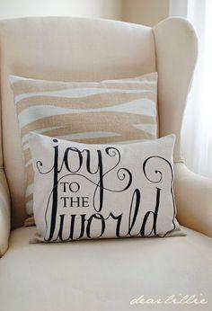 Dear Lillie: More Christmas Pillows!