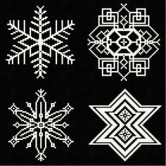 Snowflakes 7 - Christmas cross stitch pattern designed by Marv Schier. Category: Snowflakes.