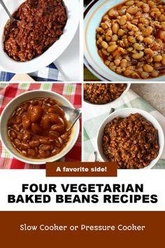 Pressure Cooker Baked Beans, Vegetarian Baked Beans, Recipes Using Beans, Legumes Recipe, Recipe Using, Summer Recipes, Slow Cooker Recipes, Instant Pot, Grains