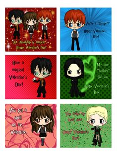 Harry Potter Valentine's Day Valentine Cards - Set of 24  - First Class and Priority Shipping Available