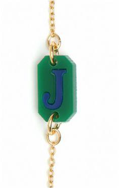BaubleBar Monogrammed Bracelet