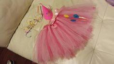 Pinkie pie theme tutu and party hat