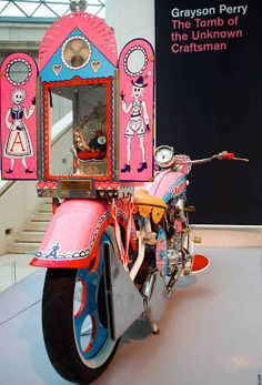 The Vintagent: GRAYSON PERRY AT THE BRITISH MUSEUM Grayson Perry Art, Wire Drawing, British Museum, Box Art, Arcade, Ceramics, Vintage Motorcycles, Inspiration, Tiles