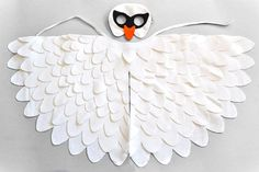 Childrens Swan Costume White Bird Mask and Wing Set door BHBKidstyle