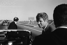 Robert F. Kennedy in California Senator Robert F. Kennedy rides in a convertible while campaigning in California.  Date Photographed:1966