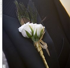 minus the peacock feather for Groom/best man's button hole