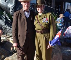 Geoffrey Graham and Capt Lisa Ride