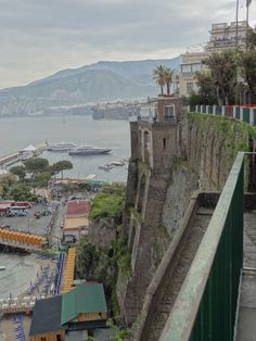 Views to right of balcony, Sorrento